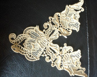 Gold embroidered applique sewing patch