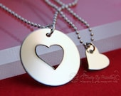 Unique Mothers Day Gift - Mother Daughter Necklace Set- Mom and  Daughter Jewelry-Simple and Elegant-Up to four daughter-4-Heart Necklace