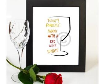 Wine Wall Art Print, Humorous Home Decor, Instant Digital Download, 8x10 Image