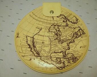 Vinyl Globe Clutch - World Clutch