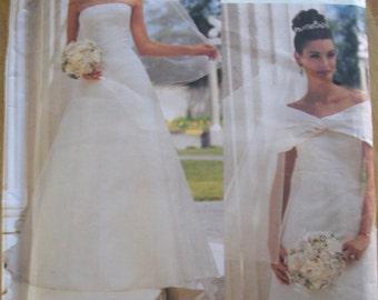 Vogue 2717 Bridal Original Misses (Size 6,810) Bridal Gown with Drape