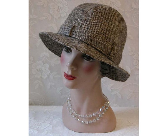 Vintage Donegal Tweed Trilby Hat Hats Of Ireland Castlebar