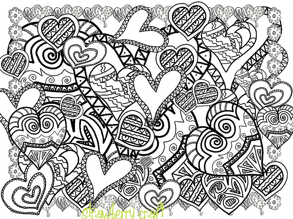 Heart Coloring Pages For Adults Coloring Coloring Pages
