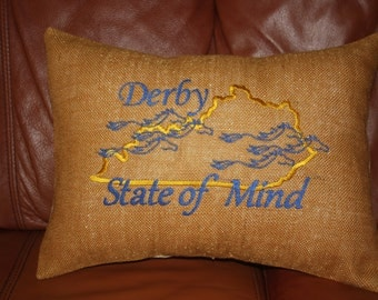 DERBY EMBROIDERED PILLOW with Free Inserts