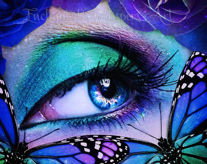 Behind blue eyes fantasy art by Enchanted Whispers