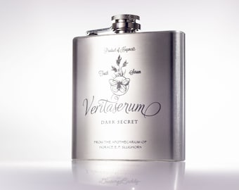 Veritaserum Potion Flask, inspired by Harry Potter -  6oz Engraved Flask