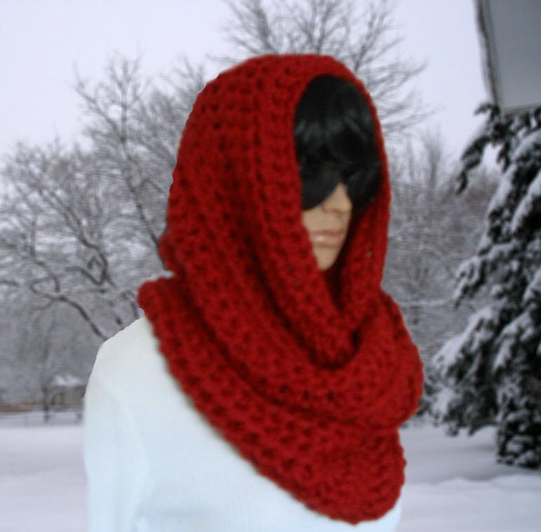 Hooded Scarf New 769 Oversized Hooded Infinity Scarf