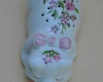 Vintage AVON Hand Painted Pig Figure ~ Potpourri Sleeping Pig ~ Ceramarte' for Avon Design ~ 1978 ~ Brazil