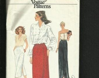 Vintage 1970's Vogue 7305 Tulip Hem Straight Evening & Day Skirts  Size 8