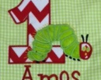 Hungry Caterpillar Birthday Applique