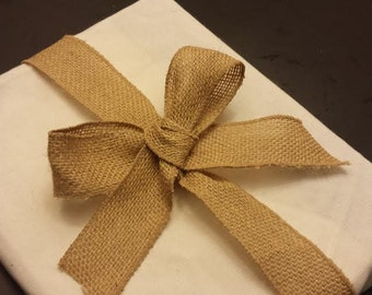 Canvas and Burlap Gift Wrap