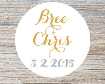 Custom Wedding Stickers, Wedding Favor, Cookie Bags, Custom Stickers, Favor Bags, Personalized Stickers, Party Favor Labels, Save the Date