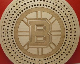 Boston Bruins Cribbage Board