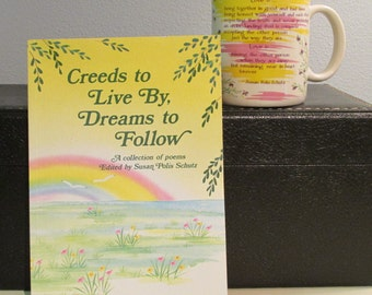Creeds to Live by, Dreams to Follow and Love is... Book and Mug by Susan Polis Schutz 1987