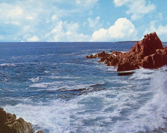 1960s Unused Postcard Featuring the Bald Head Cliffs at Ogunquit, ME.
