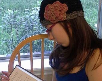 Alpaca crochet skullcap