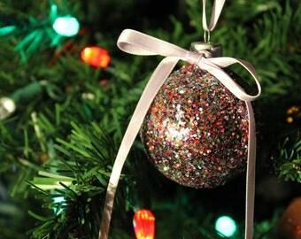Glitter Christmas Ornament - Vintage