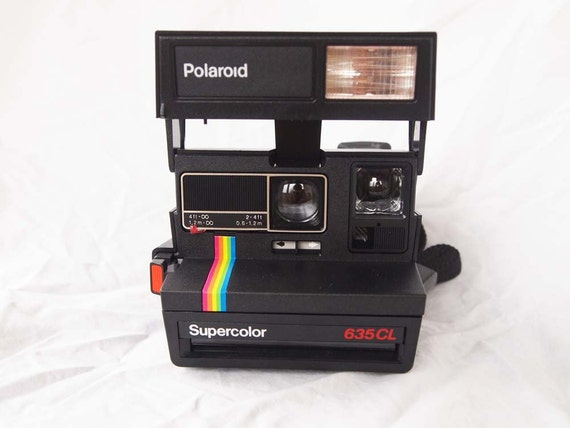 polaroid supercolor 635 cl vintage close up instant camera with flash works from senyorronda. Black Bedroom Furniture Sets. Home Design Ideas