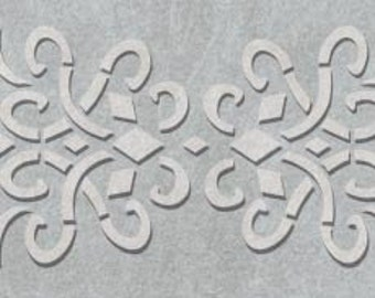 Iron Work Scroll Border Stencil