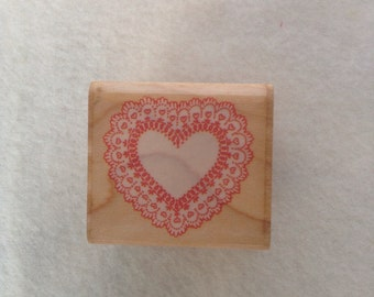 Heart Doily by Rubber Stampede - Unused