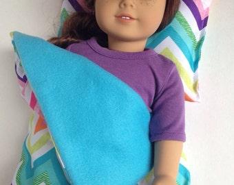 Chevron Doll sleeping bag and pillow