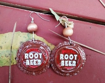 Earrings, bottle cap
