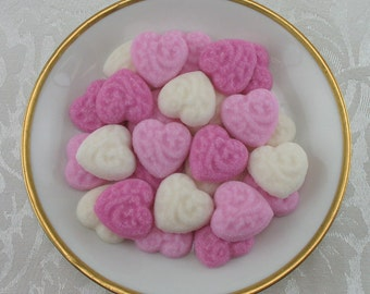 36 Pink Victorian Heart shaped sugar cubes for Valentine's Day, tea party, shower, coffee, tea, party favor, wedding