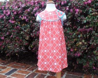 Girls Easter Dress / Girls Round Yoke Dress/Spring Dress/Monogram Dress