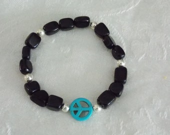 Men's  Peace Sign Bracelet