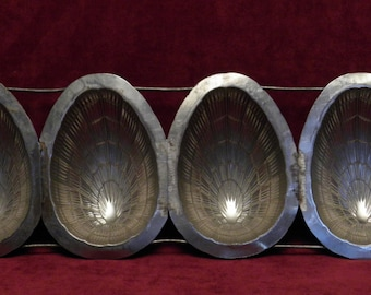 4 x antique chocolate mold for Easter very decorative