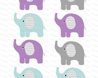 Elephant Clipart Digital Clip Art instant download (11)