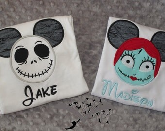Nightmare Before Christmas- Disney Character Appliquéd Shirts