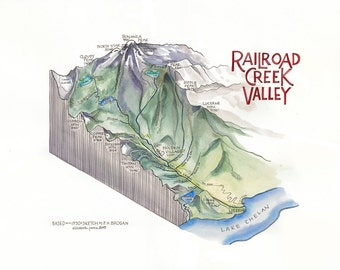 Railroad Creek Valley /// ILLUSTRATION