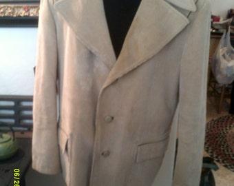 Mens Vintage Tan Corduroy Western Style Blazer Jacket, size 46, by Europe Craft, Corduroy Blazer 46, Mens Western Blazer 46