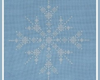 Snowflurry - embroidery pattern
