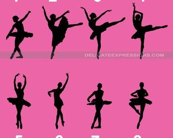 Ballerina Decal Ballerina Silhouette Ballet Wall Decal Ballet Dancer Decal Vinyl Decal Dance Team Dance Studio Bedroom Nursery Wall Decal