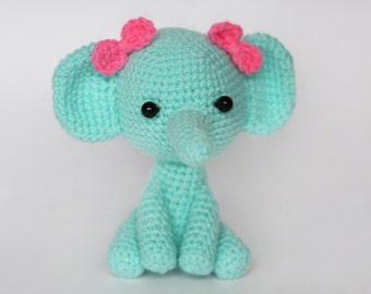Crochet Amigurumi Elephant Plush / Stuffed Animal Knit Toy