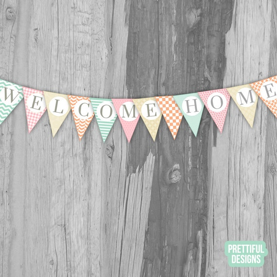 It is a picture of Impertinent Welcome Home Banner Printable