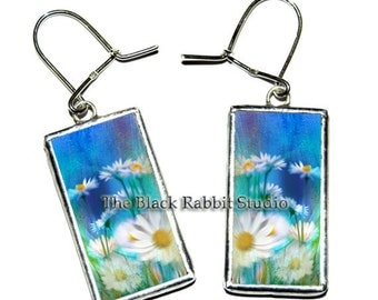 White Daisy - glasses handmade earrings