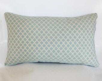 Light Blue Rectangle Pillow