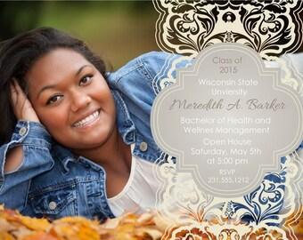 Photo Graduation Announcement - High School and College Graduation Invitation