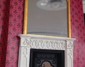 Overmantel mirror half scale 1/24 scale - or - small 1/12 wall mirror