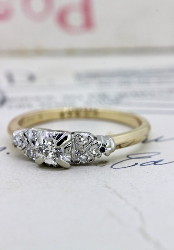 vintage engagement ring antique promise by