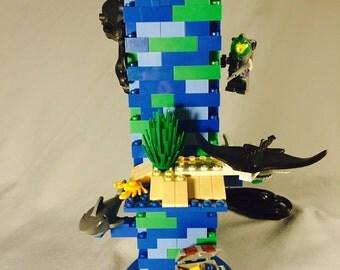 LEGO® Lamp - Underwater Ocean Beach Theme
