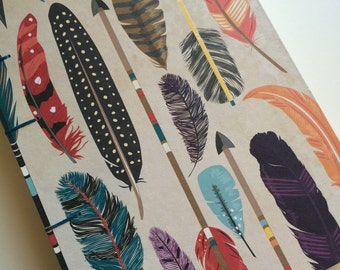 Bright Feather Notebook Sketchbook or Journal // Coptic