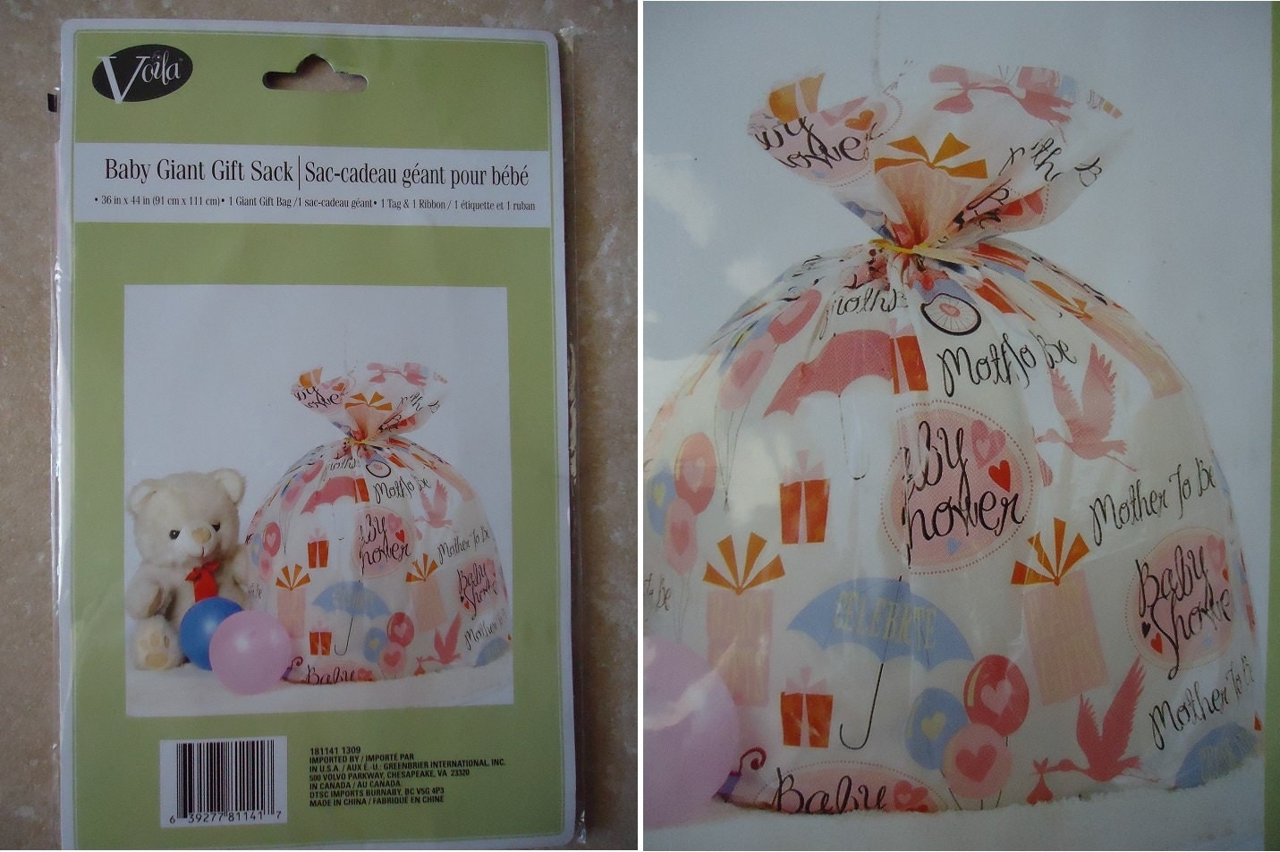 big gift bags baby shower mommy to be yellow duckie lady bugs