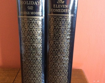 The Black and Gold Library - two volume set. Aristophanes, The Eleven Comedies, and A Storytellers Holiday by George Moore. 1931