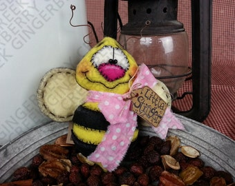 You Little Stinger Bee Pattern #101 - Primitive Doll/Tuck/Ornie Pattern