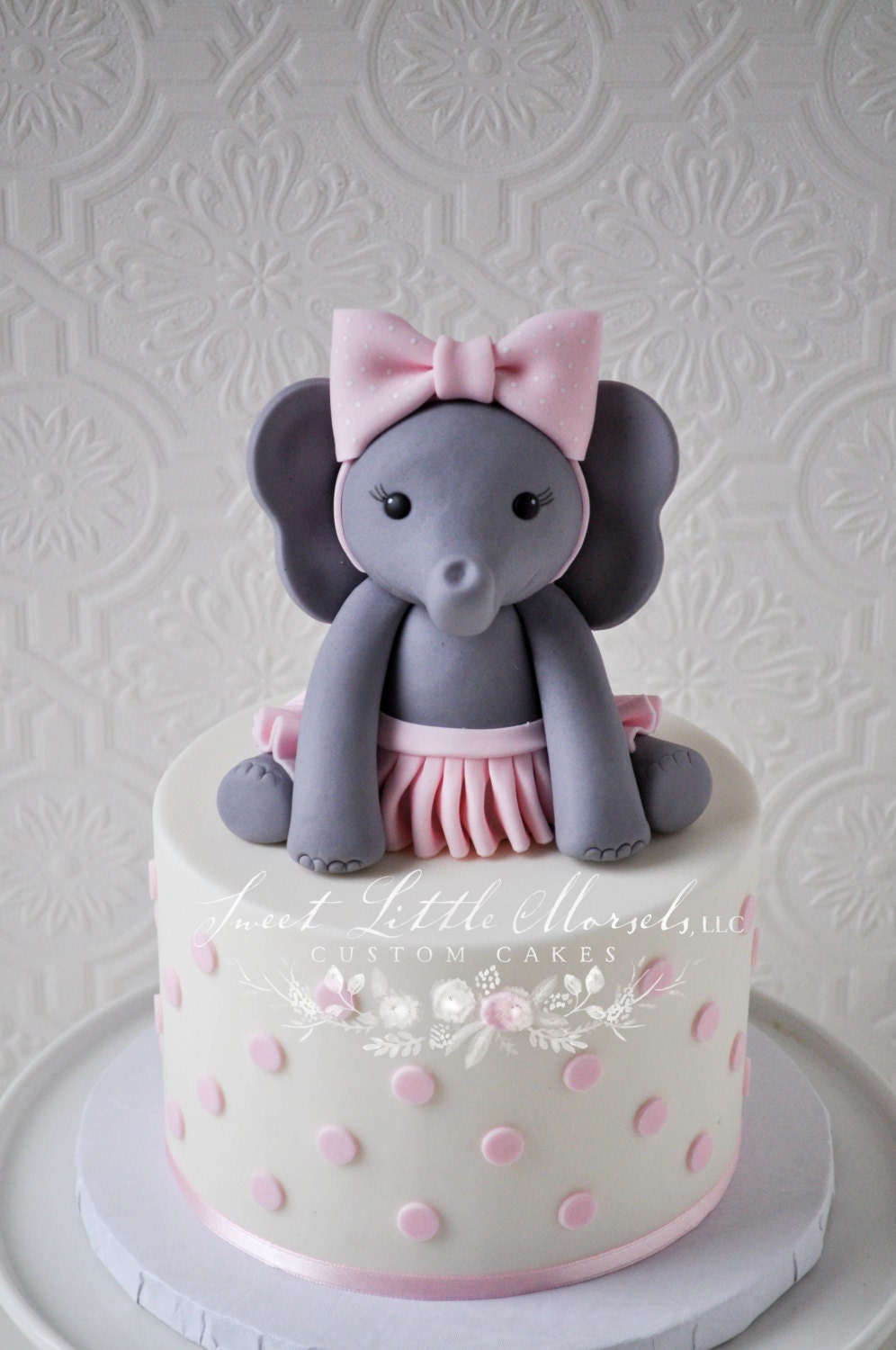 The Original Baby Girl Elephant Cake Topper by ...