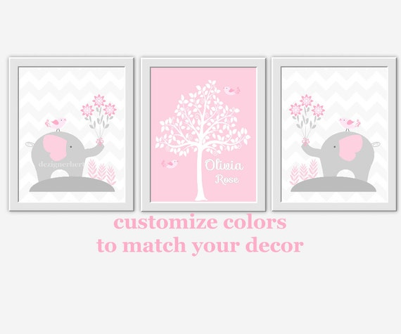 baby nursery wall decor pink gray grey by dezignerheartdesigns. Black Bedroom Furniture Sets. Home Design Ideas